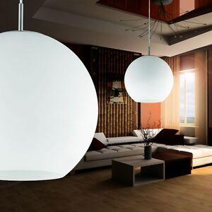 glas kugel pendel lampe dm 30 cm leuchte k che loft wohn zimmer beleuchtung b ro ebay. Black Bedroom Furniture Sets. Home Design Ideas