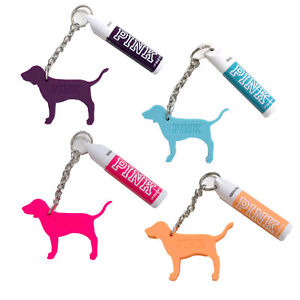 Victoria-039-s-Secret-Pink-Lip-Balm-Sunscreen-SPF-15-Dog-Logo-Keychain-Chap-Stick-Vs