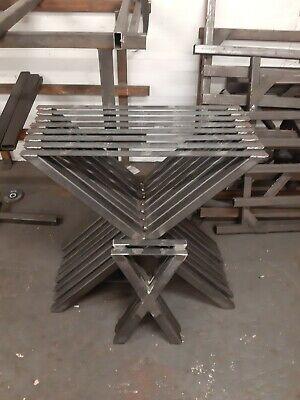 Steel Coffee Table Base Set of 2 Industrial Bench Legs Steel Legs X Style Bench Legs X Legs X Shape Steel Bench Legs
