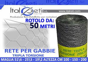 50-MT-Rete-Tripla-Torsione-Per-Polli-Maglia-19-2-25-3-51-6-H100-H150-H200Trefort
