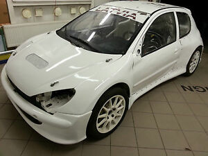 peugeot 206 rally cross car body kit wide body kit | ebay