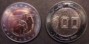 Algeria 10 bimetal 20 Dinars 2018 two coins bimetallic