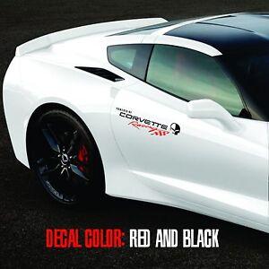 Corvette-Racing-1-pair-logo-Vinyl-Graphic-Decals-C4-C5-C6-C7-ZO6-ZR1-Stingray