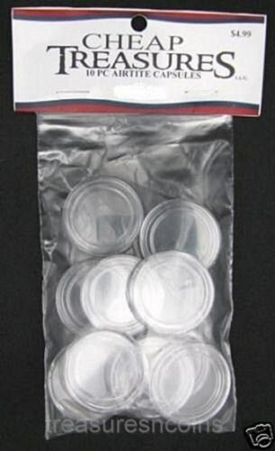 DIRECT FIT COIN CAPSULES AIRTITE NEW 10 PACK CENT PENNY 19MM