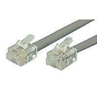 Steren Electronics 306-707sl Modular Network Cable Rj11-6p6c 7' Straight 3 Pcs