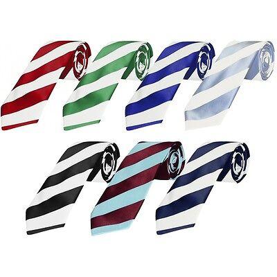 Herzhaft Hand Made Football Club Striped Mens Classic Ties Celtic Newcastle Utd West Ham