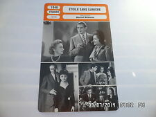 CARTE FICHE CINEMA 1946 ETOILE SANS LUMIERE Edith Piaf Jules Berry M.Herrand