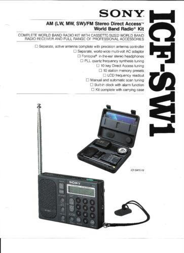 SONY ICF-SW1 SHORTWAVE RADIO AUDIO PROBLEM REPAIR SERVICE W// LED