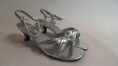 Dyeable Bridal//Evening Shoes UK 7  #8E230 Makayla White Satin US 9B