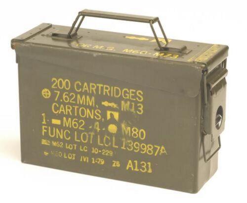 US Army cassa di munizioni mura-Scatola Taglia 1 USATO SCATOLA IN METALLO ATTREZZI munikiste