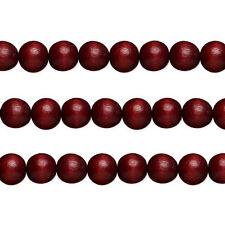 Wood Round Beads Dark Brown 12mm 16 Inch Strand