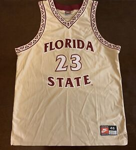 on sale 6c3a2 55ede Details about Rare Vintage Nike Florida State University James Collins  Basketball Jersey