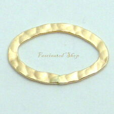 14K Gold Filled 13x21mm Hammered Oval Links Finding 1pc. New