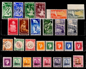 NEW ZEALAND: 1950'S STAMP COLLECTION SEMI POSTALS, OFFICIALS