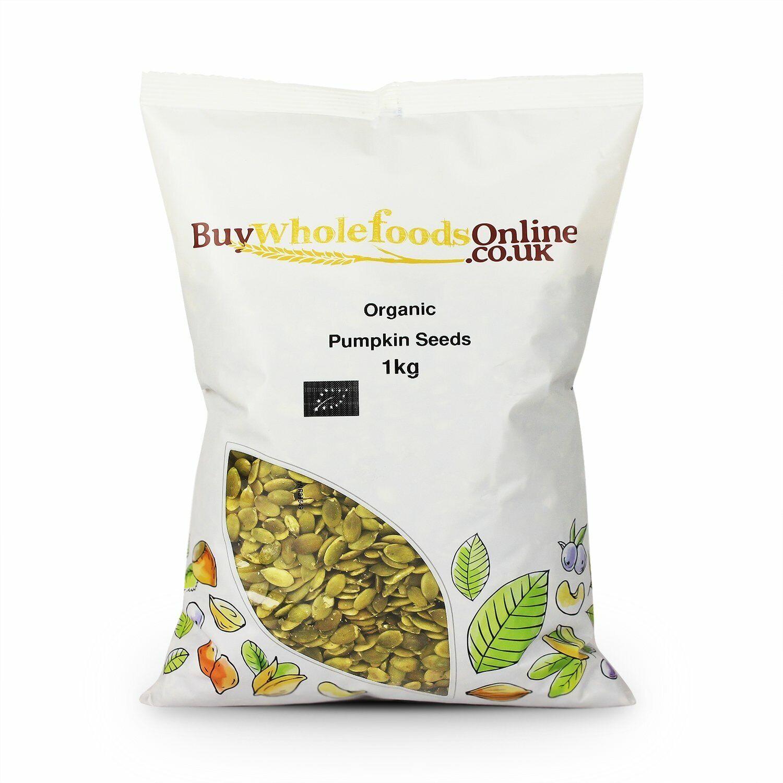 Organic Pumpkin Seeds 1kg   Certified Organic   Free Mainland UK P&P