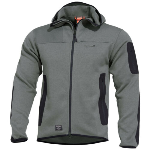 Pentagon Falcon Tactical Sweater 2.0 Hooded Mens Fleece Jacket Hiking Wolf Grey