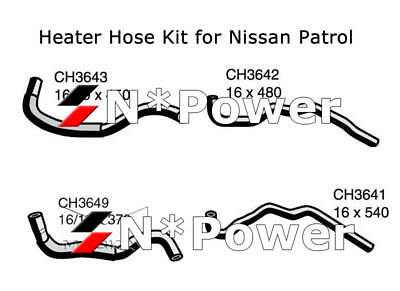 MACKAY HEATER HOSE KIT FOR NISSAN TD42 TD42T PATROL Y61 GU 4.2L 98-03