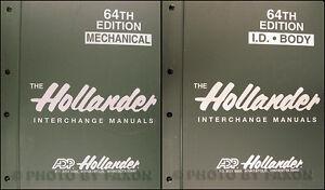 1984-1998-Hollander-64th-Edition-Parts-Interchange-Manual-Set-of-4-NEW-Car-Truck
