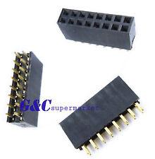 New Listing5pcs 2x8 Pin 16p 254mm Double Row Female Straight Header Pin Strip J4