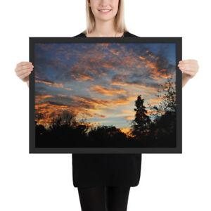 Enhanced-Matte-Paper-Poster-Framed-Wall-Art-Botanical-Garden-Sunset-5-Sizes