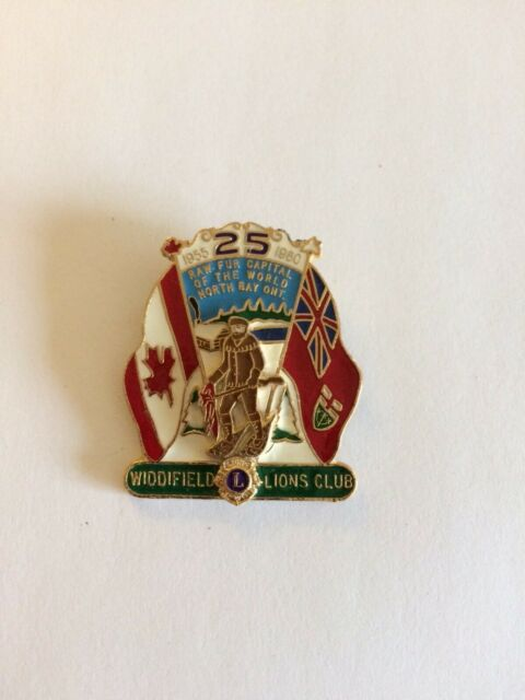 LIONS CLUB PIN WIDDIFIELD LIONS CLUB 25 YEARS 1955-1980