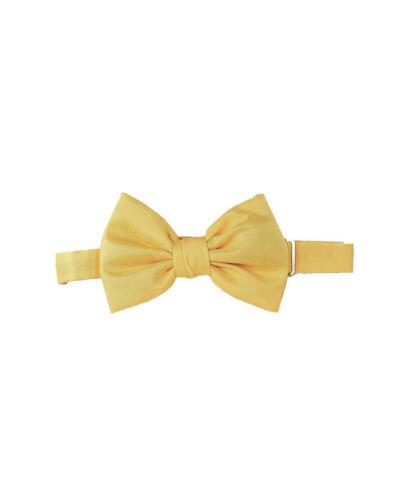 Dsquared2 Mens Papillon Seta Jacquard Bow Tie Solid Giallo Yellow Size OS