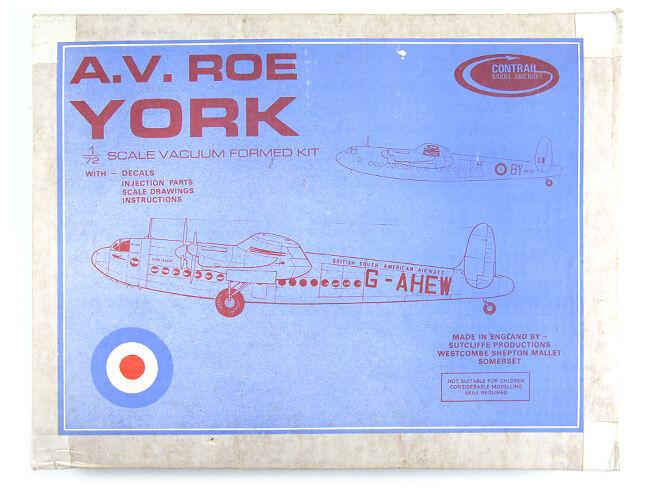 Contrail Model Aircraft AV.ROE York 1 72 Boxed