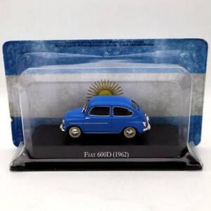 IXO-ALTAYA-1-43-Fiat-600D-1962-Azul-modelos-diecast-coleccion-de-edicion-limitada