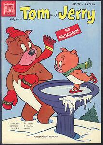 Tom-und-Jerry-Nr-27-von-1959-TOP-Z1-ORIGINAL-ERSTAUFLAGE-COMICHEFT-Moewig