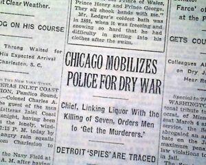 St Valentine S Day Massacre Al Capone Moran Chicago Gangster War