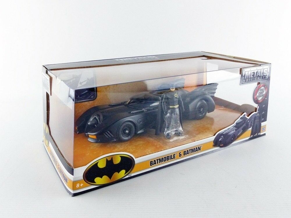 Jada spielzeug jungs metalle 24 1989 batmobil mit abbildung 2 stück 98260