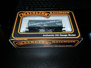 OO gauge mainline 37-439 20T Steel Mineral wagon Stewarts LLoyds Tubes ltd boxed