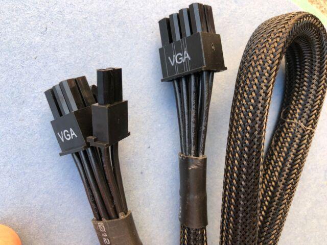 6+2 EVGA SUPERNOVA G3 Series 8-pin to Dual 8-pin VGA Power Supply Cable