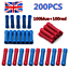 200X Insulated Straight Butt Connectors Electrical Crimp Terminals Wire Cable UK