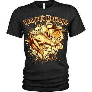 Dragon-039-s-revenge-T-Shirt-skull-pile-Unisex-Mens