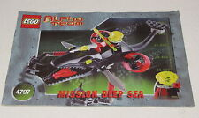 LEGO INSTRUCTION MANUAL BOOKLET ONLY 4797 Ogel Mutant Killer Whale