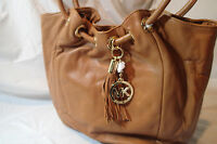 Michael Kors Soft Leather Handbag,brown,large Satchel, Ring Tote