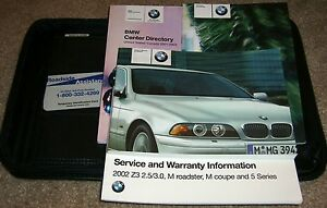 2002 bmw 525i owners manual 02 530i 525 530 540i w case ebay rh ebay com bmw 530i owners manual pdf bmw e39 530d user manual