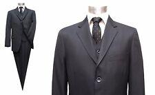 Herren Anzug mit Weste Gr.110 Dunkelgrau