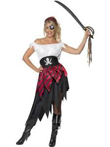 PIRATE-WENCH-COSTUME-PIRATE-FANCY-DRESS-PIRATES-LARGE-16-18-WOMENS