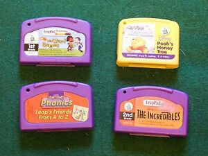 Lot-of-Working-LeapPad-Games-Cartridges-Disney-The-Incredibles-Pooh-039-s-Honey-Tre