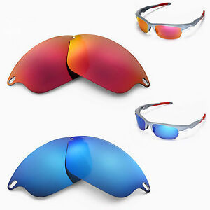 9560dc4202c New Walleva Polarized Ice Blue + Fire Red Lenses For Oakley Fast ...