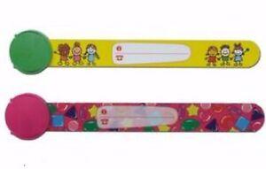 2-pcs-two-child-safety-wrist-bands-kids-infoband-waterproof-reuseable-wristband