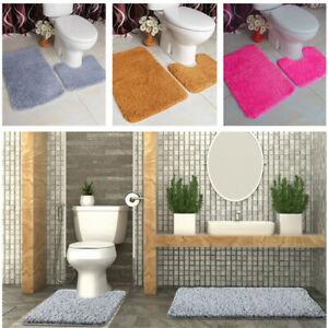 100/% Cotton 2 Piece Tumble Twist Bath Mat /& Pedestal Mat Bathroom Toilet Set