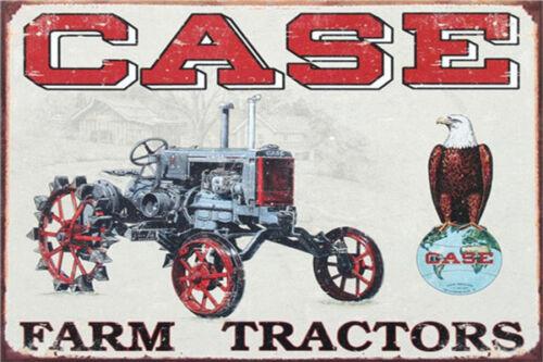 Metal Tin Sign case farm tractor  Decor Bar Pub Home Vintage Retro Poster Cafe