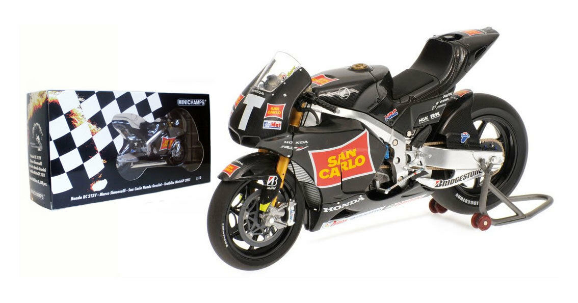 Minichamps Honda RC212V Test Bike MotoGP 2011 - Marco Simoncelli 1 12 Scale