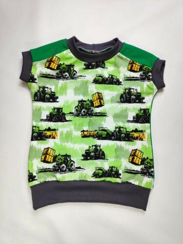 T-Shirt Frontlader Strohballen grün mit Traktor