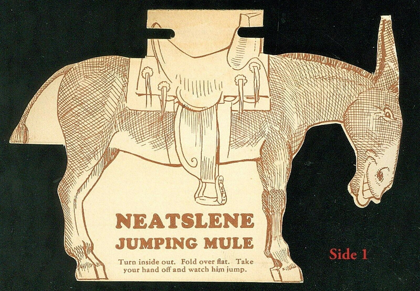 Die-cut Neatslene Jumping Mule - Make the Mule Jump  - Harness Oil