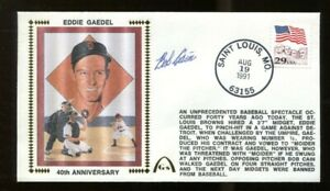 Bob-Cain-Signed-FDC-First-Day-Cover-Autograph-Walked-Midget-Eddie-Gaedel-56242