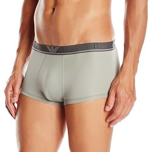 Emporio Armani Men's Basic Microfiber Trunk, Smoke Grey, Small